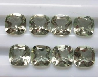 NATURAL GREEN AMETHYST cushion 8mm green amethyst sq cushion mint amethyst 8mm cushion sq nice quality green amethyst mint quality 8mm good