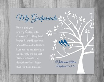 Baptism Gift For Godparent Personalized From Godchild To Etsy