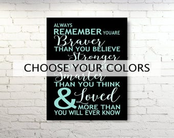 Always Remember Canvas Or Print Christopher Robin Pooh Quote Etsy
