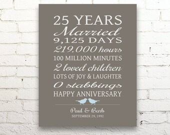 25 year anniversary etsy