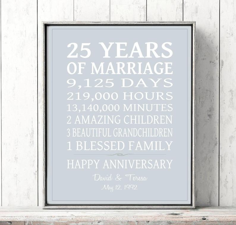 316c2f74576 25th Anniversary Gift PERSONALIZED 25th Wedding Anniversary