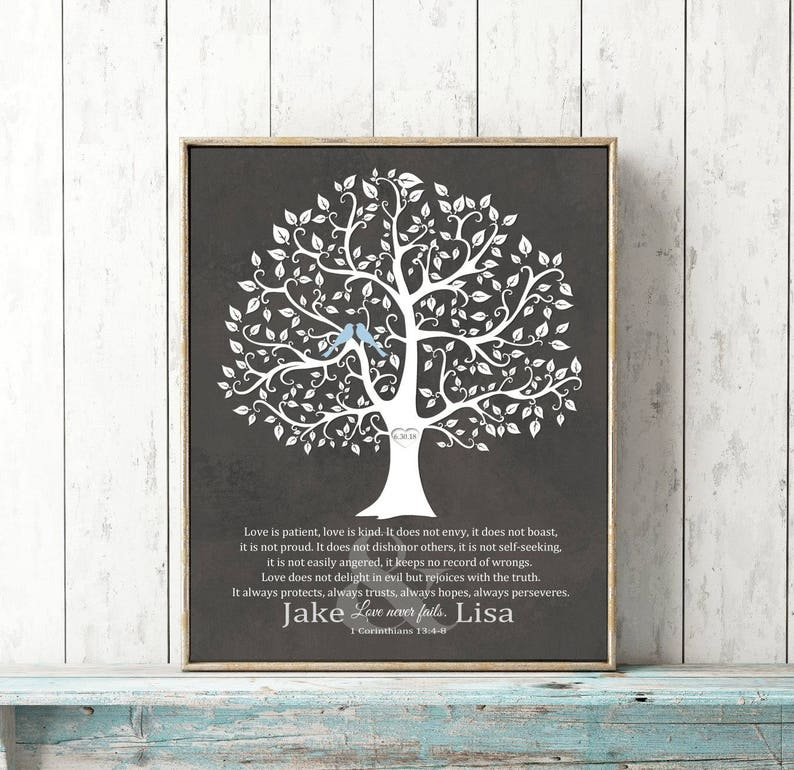 1c0f8a1e2af Wedding Gift Personalized for Couple 1 Corinthians Love Never   Etsy