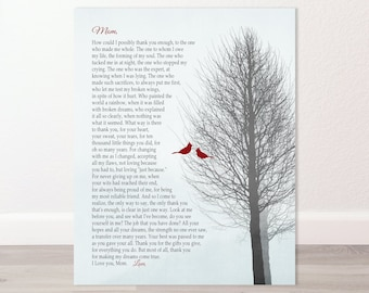 POEM FOR MOM, Heartfelt Gift - Mothers Day, Birthday - Personalized from Daughter or Son, Custom & Personalized -Print, Canvas, Digital File