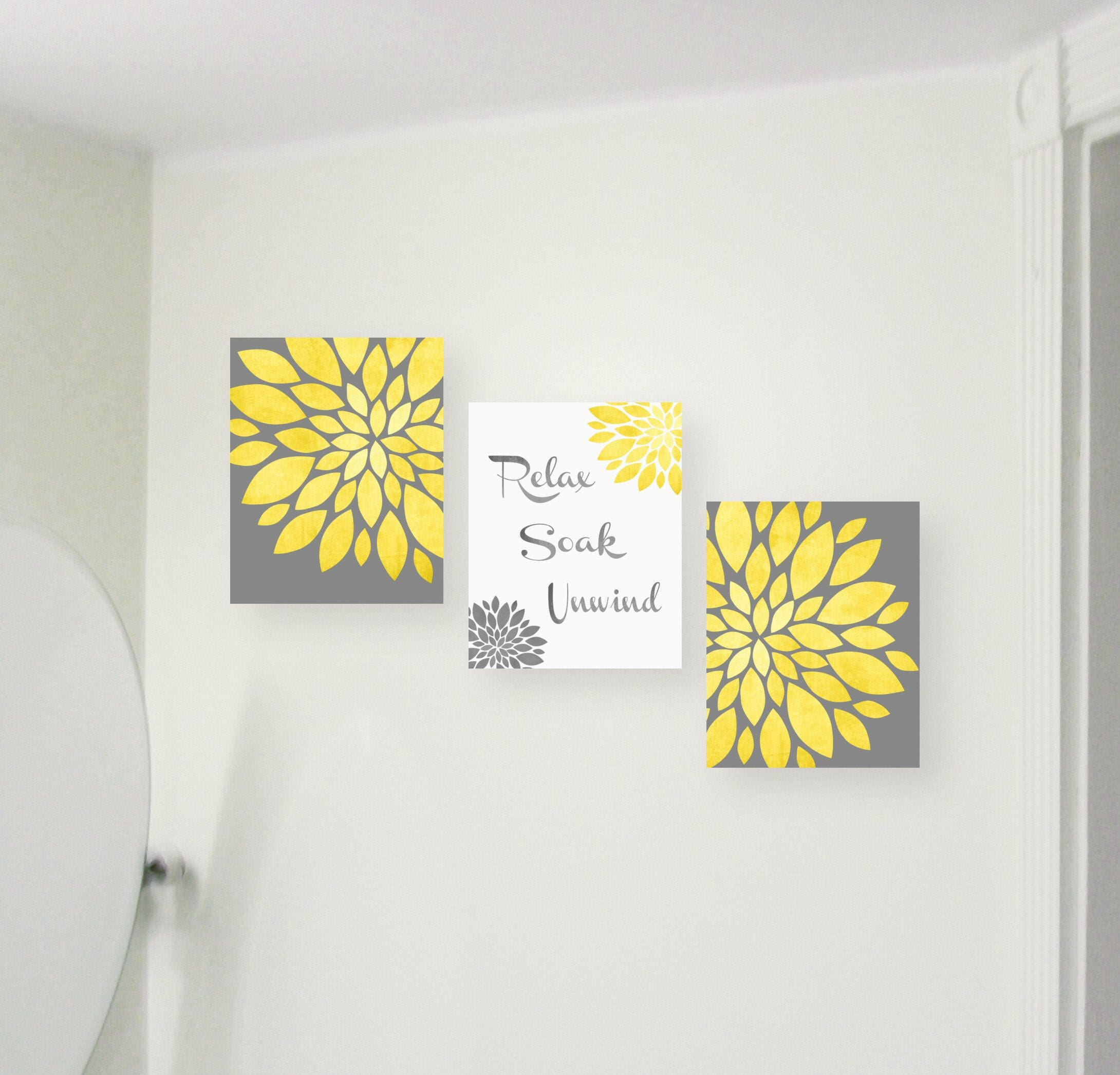Bathroom Wall Art Relax Soak Unwind Bathroom Wall Decor Prints