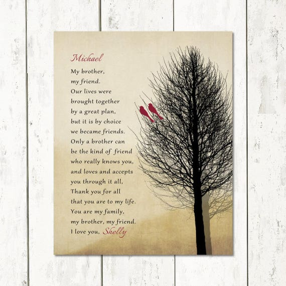 Brother Christmas Gift Birthday Gift From Sister Print Or -1474