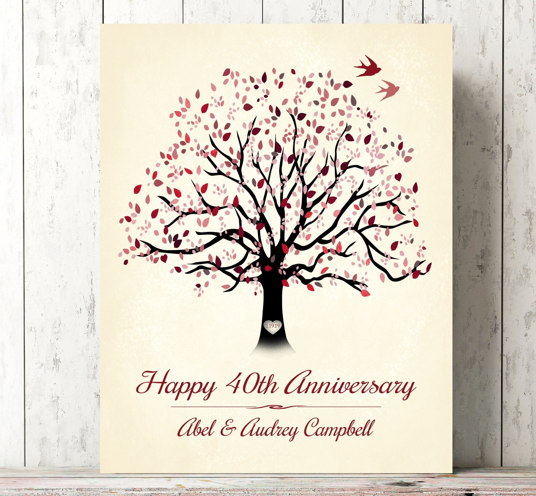 Ruby Wedding Gifts For Parents: 4Oth Anniversary Gift For Parents 40 Year Ruby Anniversary