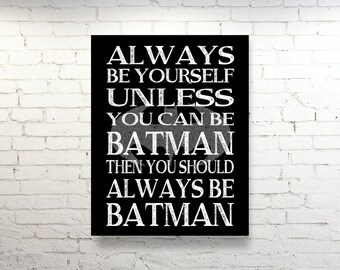 7 year anniversary gift funny anniversary gift for spouse art alway be batman super heros modern wall art poster print large art bedroom boys room decor solutioingenieria Image collections