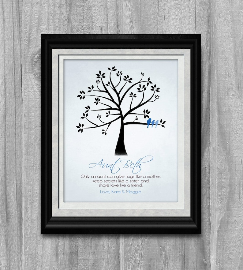 AUNT Gift Art Print  Personalized Only an Aunt Can Poem Family image 0