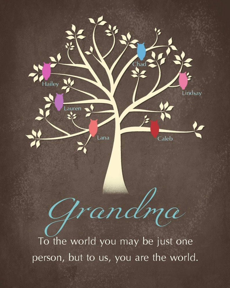 1217baba1a8 Personalized Mothers Day Gift Grandma Canvas or Print Great