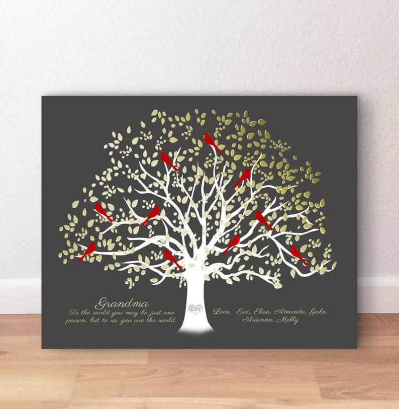 Grandma Gift Birthday Gift Grandmother Family Tree