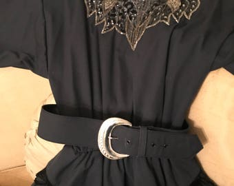 Vintage Western/Cowgirl Ladies Wedding/ Special Occasion  Black Dress