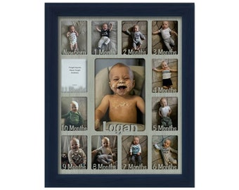 Gift for New Parents Baby 1st Year Frame Baby Shower Gift 16x20 Baby First Year Name Picture Frame New Baby Picture Frame New Born Gift