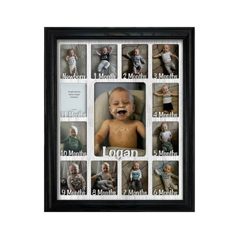 ad4f198ececd Baby First Year Personalized Frame Holds Twelve 2.5 x | Etsy