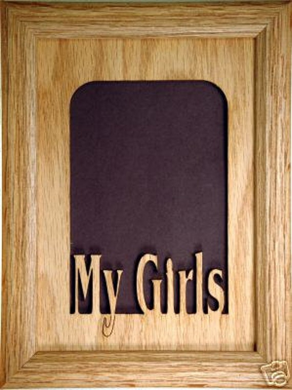 My Girls Picture Frame - My Girls Photo Frame, Daughters Picture ...