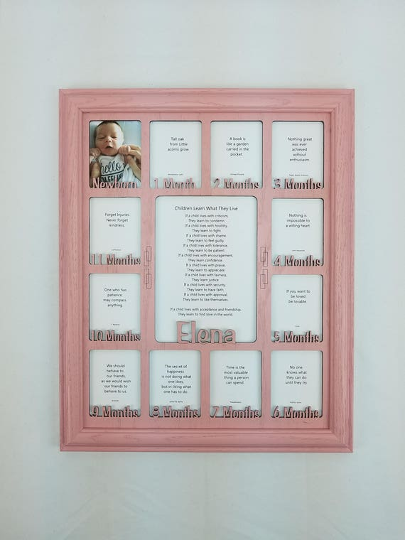 Baby First Year Frame 12 Month Frame Personalized With Any Etsy
