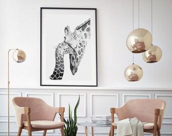 "Nursery art Giraffe sketch limited edition Giclee Print ""unconditional"""