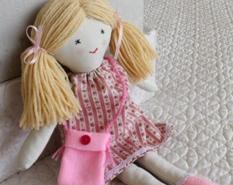 Traditional rag doll, little doll, cloth doll, doll for little girl, handmade soft toy, forever doll, cute doll