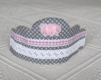 Fabric dressing up crown,pretty party hat for girl