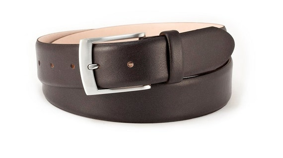 683318cdf56f Mens dress belt dark brown leather belt wedding belt classic | Etsy