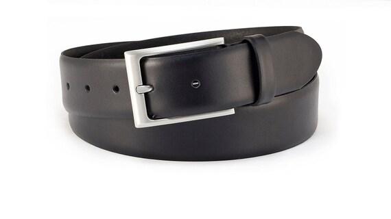 Ceintures de Classic pour homme en cuir ceinture costume noir   Etsy 3ee74d935ac