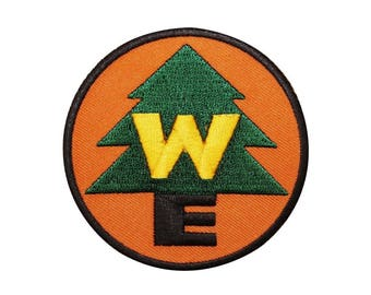 Wilderness Explorer embroidered patch, new embroidered WE