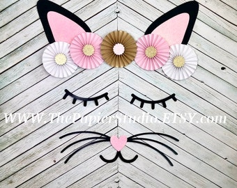 Kitty Face, Kitten Party, Cat Party, Meow, Backdrop