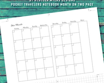 Build Your Own Planner Pocket/Field Note 12 Month Insert