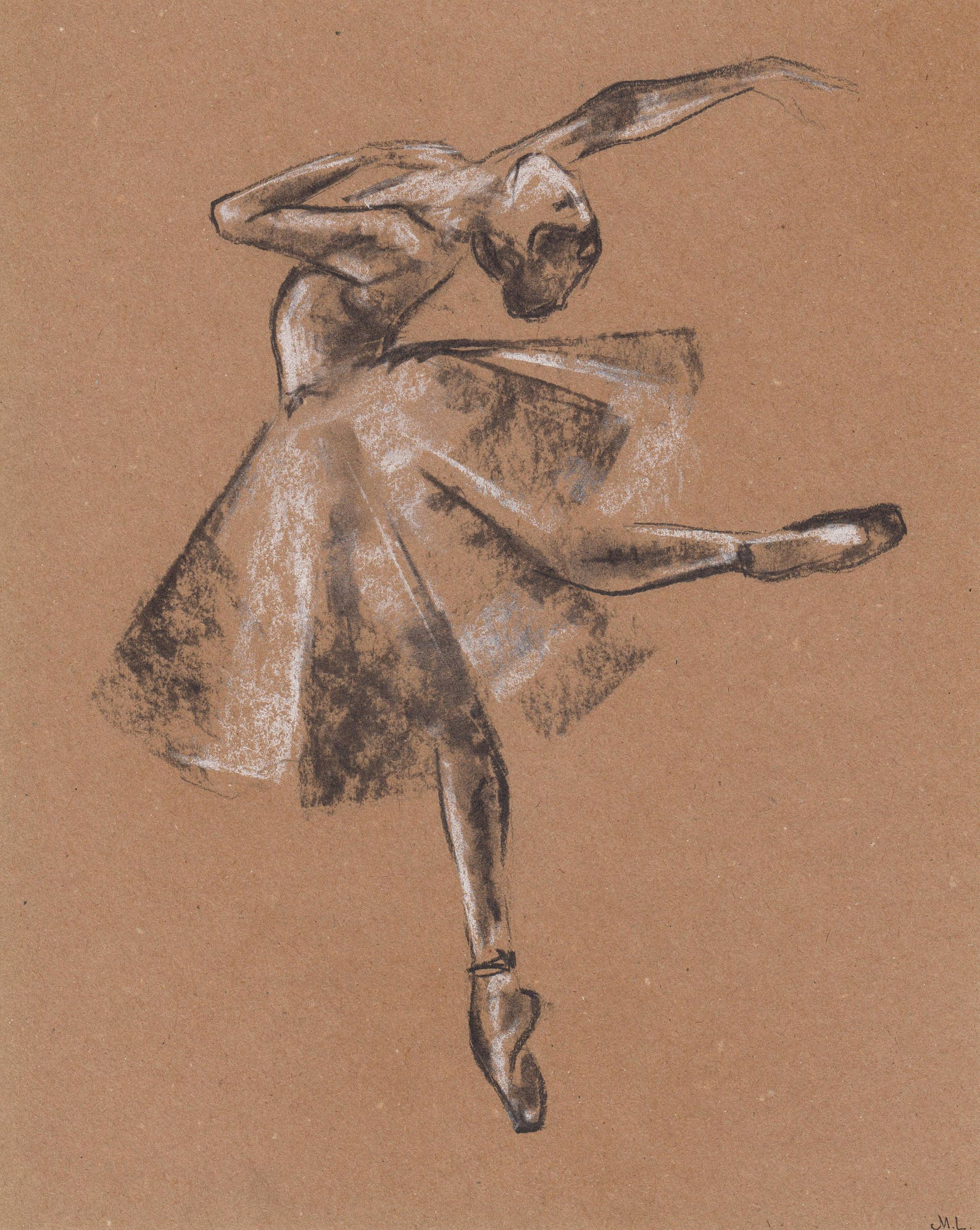 ballerina drawing. ballet drawing. ballerina illustration. ballerina dancing. ballet art. minimalistic art. charcoal drawing. or