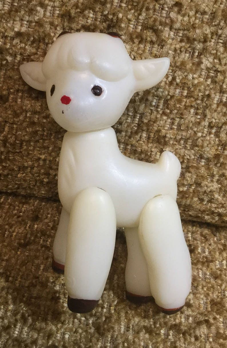 Goat plastic is a vintage toy Russia USSR
