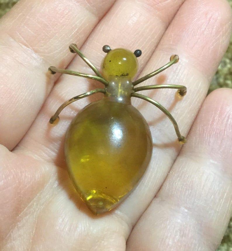 Brooch vintage amber Baltic