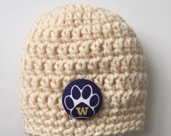 25162428411 University of Washington baby hat
