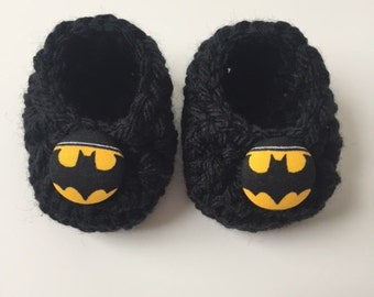 0454cad4fa6b Batman baby booties