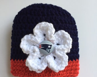 New England Patriots baby girl hat