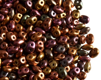 20g 2.5x5mm 2-hole SuperDuo Seed Beads Czech Glass CHOOSE COLOR
