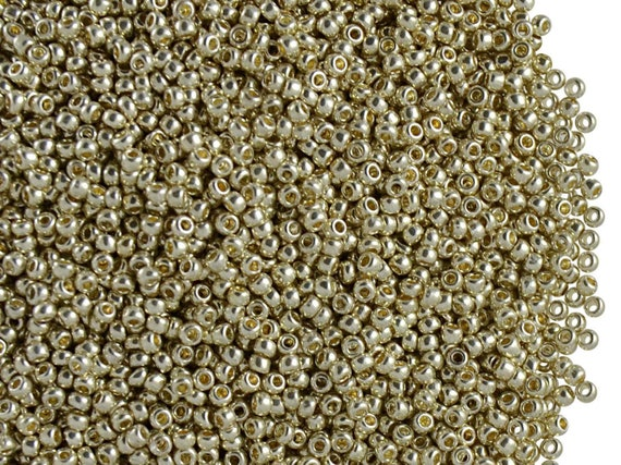 Preciosa Czech Glass 12//0 20gr Rocailles Seed Beads Silver Metallic