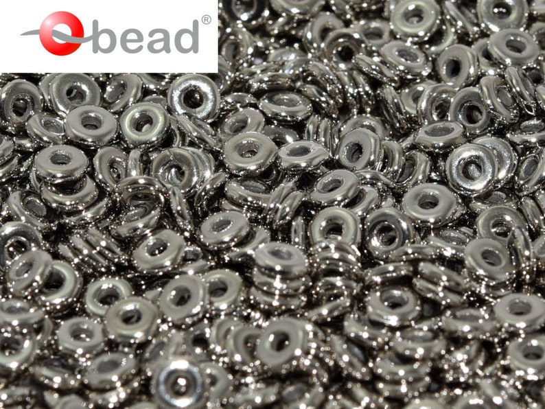 Crystal Argentic Full Czech Glass 5g O bead\u00ae 1x4mm OB060