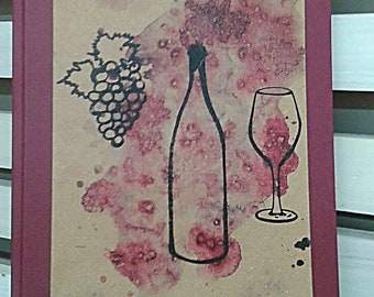 Handmade book  of wines, shabby, vintage, retro, winery,  country