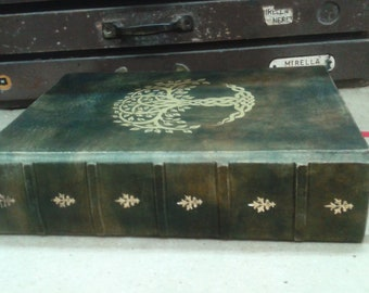 Tree of life grimoire -  size A4 - refillable - double book of shadows in genuine leather