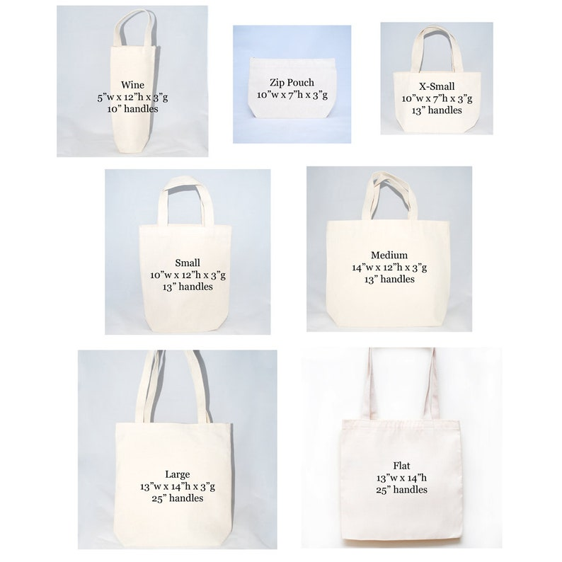 Hotel Welcome Totes Set of 6 Hilton Head South Carolina Wedding Welcome Bags Bridesmaid Gifts