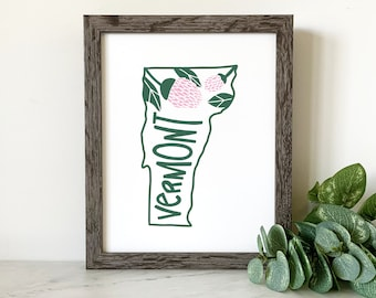 Vermont Red Clover Collection, Small, Medium, Large, Extra Large, Banners, Tea Towels and Prints Available with Vermont Red Clover Design