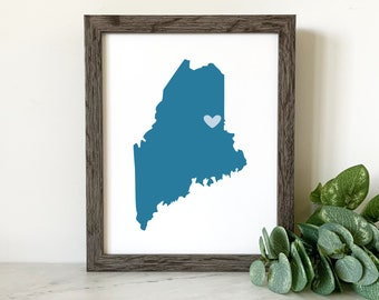 State / Country Prints, Customizable Prints for Event Favors, Screen printed State Silhouette Gifts, 6 unit minimum, Bulk Pricing Available.