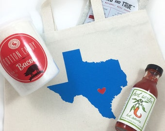 Set of 6 Texas Wedding Welcome Bags, Hotel tote bags, bachelorette tote bags