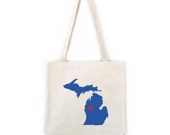 Michigan Wedding Totes, Wedding Welcome Bags, Handmade Wedding Favors, Hotel Gift Bag, Bridesmaid Groomsmen Gift, 6 unit min, Bulk Pricing