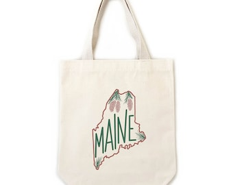 Maine White Pine Cone Collection, Small, Medium, Large, Extra Large, Banners, Tea Towels, Prints Available with Maine State Flower