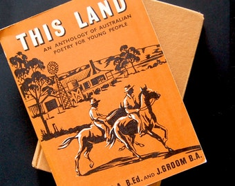 "Vintage Australian Book: ""This Land"", Poetry for Young People HB"