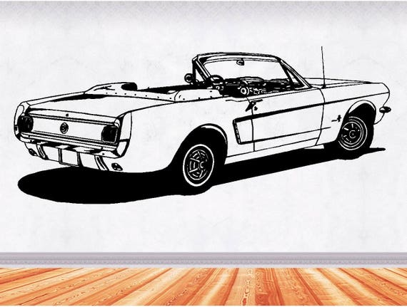 65 Ford Mustang Muscle Car Decals Man Cave Decor Hot Rod Etsy