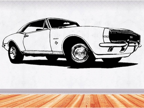 Muscle Car Decals >> 67 Camaro Muscle Car Decals Muscle Car Sticker Hot Rod Etsy