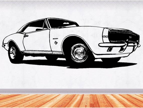 67 Camaro Muscle Car Decals Muscle Car Sticker Hot Rod Etsy