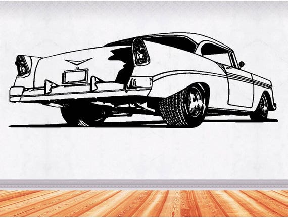 Chevy Bel Air Muscle Car Decals Man Cave Decor Hot Rod Etsy