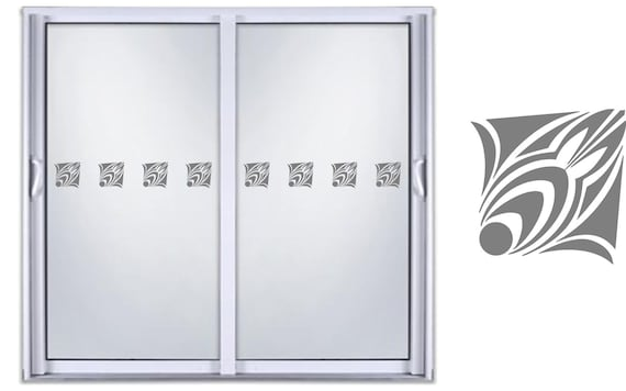Glass Etched Safety Vinyl Sticker//Patio Door//Work//Business //Safety Sign//Window